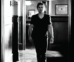 damon salvatore, tvd, and the vampire diares image