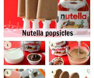 nutella, food, and popsicle image