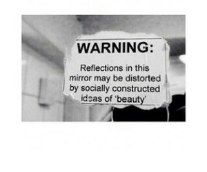 beauty, mirror, and society image