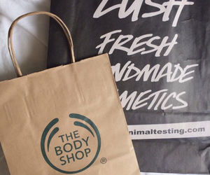 lush, the body shop, and tumblr image