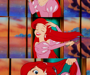 ariel, disney, and funny image