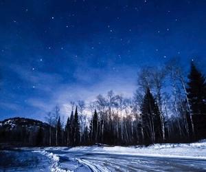 winter, sky, and stars image