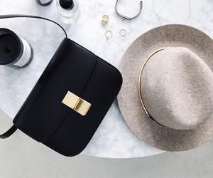 fashion, hat, and bag image