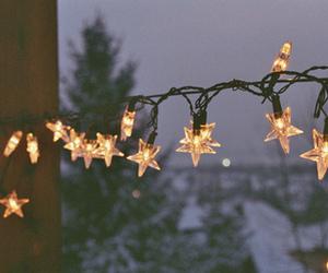 light, stars, and christmas image