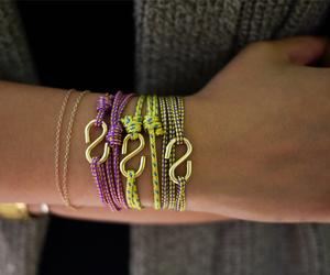 bracelet, rope, and rope bracelet image