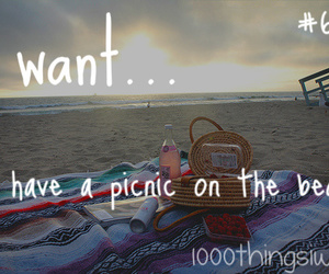 beach, picnic, and summer image