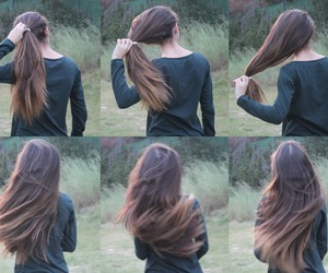 brownhair, hair, and hairstyle image