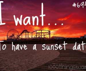 date, romantic, and sunset image
