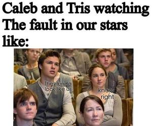 divergent, funny, and the fault in our stars image