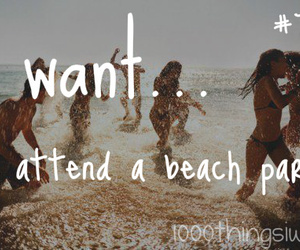 beach, beach party, and party image