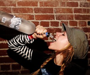 Avril Lavigne and grey goose image