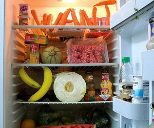 food, eat, and fridge image