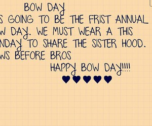 bow day bows before bros image