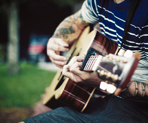 guitar, tattoo, and boy image
