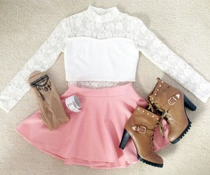 girl, boots, and clothes image