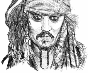 Carribean, drawing, and jack sparrow image
