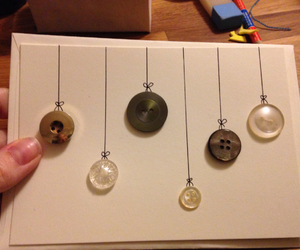 buttons, card, and christmas image