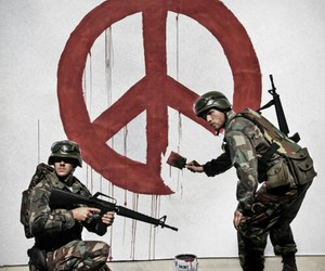 peace, art, and BANKSY image