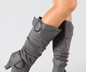 boots, grey, and shoes image