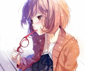 anime, school uniform, and kyoukai no kanata image