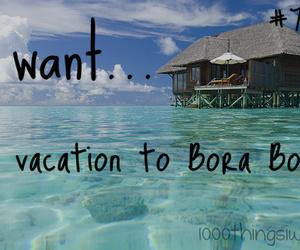 bora bora, travel, and vacation image