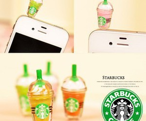 starbucks, iphone, and cute image