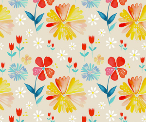 floral, pattern, and wallpaper image