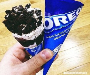 oreo, ice cream, and food image