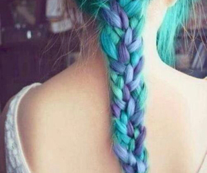 blue hair, give, and hair image