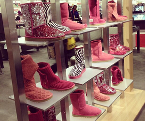 pink, shoes, and ugg image
