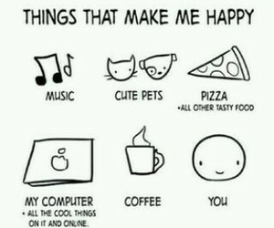 music, happy, and pizza image