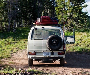 forest, van, and travel image