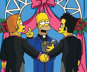 gay rights, homer, and marriage image