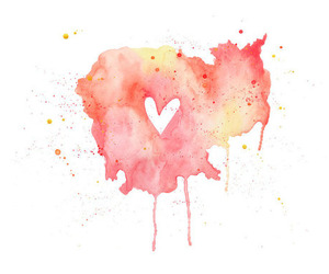 art, heart, and love image