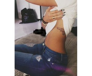 tattoo, kylie jenner, and gun image