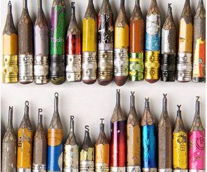 pencil, art, and alphabet image
