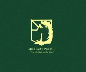 military police, attack on titan, and shingeki no kyojin image