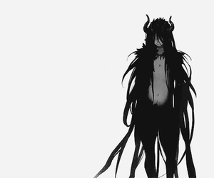black and white, boy, and demon image
