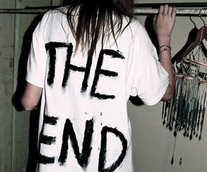 grunge, the end, and black image