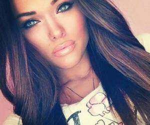 beautiful, brunette, and makeup image