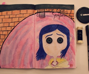 coraline, original, and wreck this journal image