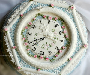 clock, competition, and icing image