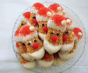 santa, christmas, and Cookies image