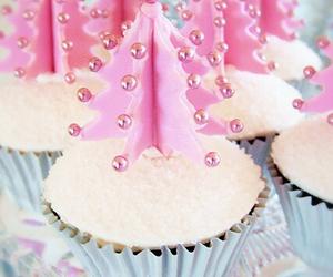 christmas, cupcake, and pink image