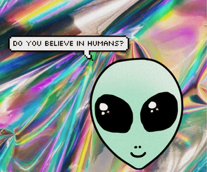 alien, believe, and humans image