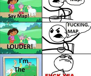 Dora, funny, and map image