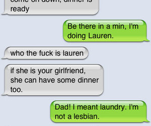 funny, cool dad, and lesbian image