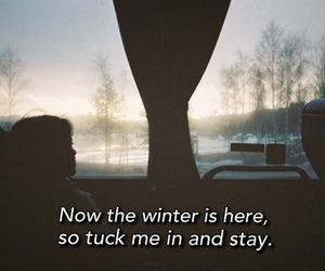 cold, winter, and love image
