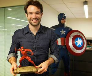 charlie cox, captain america, and daredevil image