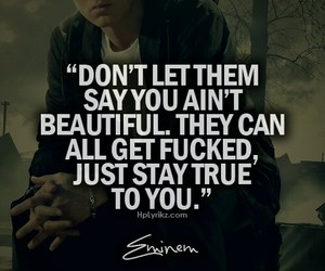 beautiful, quote, and eminem image